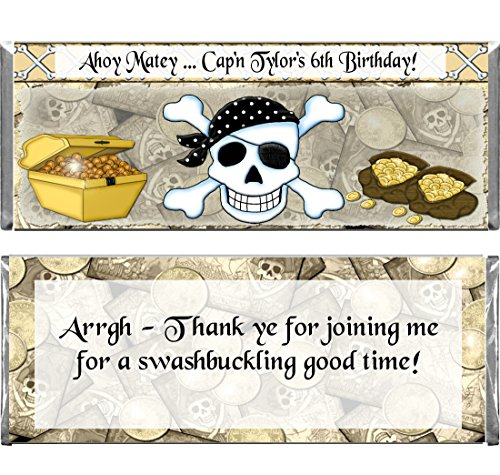 Personalized Custom Pirate Birthday Part - Hershey Chocolate Bar Wrappers Shopping Results