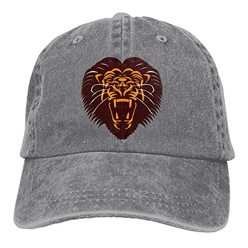 Shenigon Lion Premium Cowboy Baseball Caps Dad Hats Ash