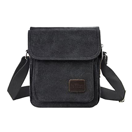 Men Boys Canvas Vintage Messenger Bag Cross body Bag Pack Satchel Bag Sling Shoulder  Bag Rucksack 55fe2be3f83cb