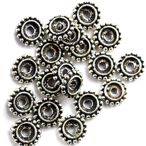 10pcs Genuine 925 Antique color Sterling Silver rondelle Ball Beads Spacers for Jewelry Making Findings (28mm)