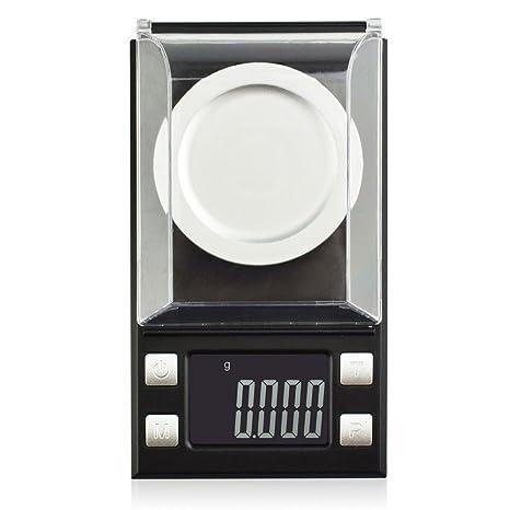 Báscula de bolsillo, mini báscula de bolsillo digital, escala Milligram, 50 x 0,001