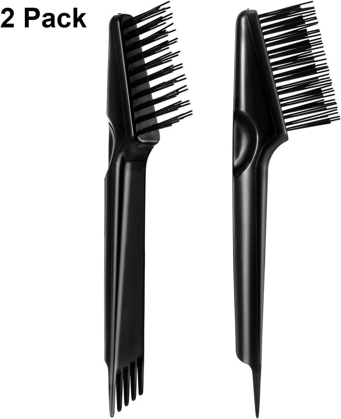 2 Pieces hair brush cleaning tool Hair Brush Cleaner Rake for Removing Dirt Home and Salon Use, Black [並行輸入品]