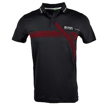 b1816d65ae5d4 Amazon.com: Hugo Boss Slim-fit Polo Shirt Pavotech Black 50392754 ...