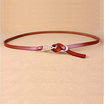 XIDGF cinturón Mujer Cinturón Fino Moda para Mujer Arco Nudo de ...