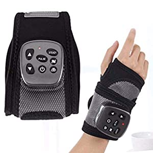 Portable Electric Rechargable Wrist Massager with Heating Vibration Wrist Brace Hand Compression Carpal Tunnel Wrist Support