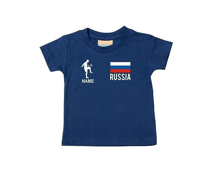 Shirtstown KIDS CAMISETA Camiseta de fútbol Rusia RUSIA CON SU NOMBRE DESEADO Estampado - azul marino