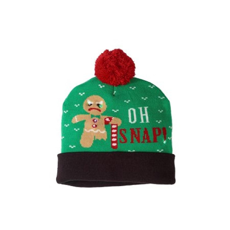Amazon.com: Oh Snap Christmas Light Up Pom Beanie: Clothing