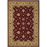 Safavieh Majesty Collection MAJ4782-4015 Traditional Oriental Red and Camel Area Rug (7'9'' x 9'9'')
