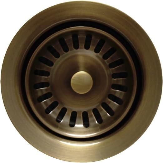 Whitehaus WH200-ABRAS 3-1//2-Inch Waste Disposer Trim Antique Brass