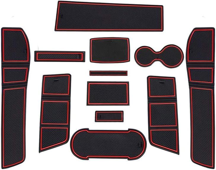 Gummi Matten Antirutschmatten f/ür Getr/änkehalter Mittelkonsole Armlehne T/ürschlitz 11 St/ücke LFOTPP Seat Leon Cupra 5F FR Gummimatten