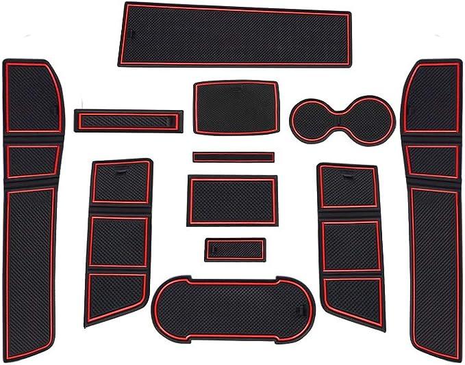 Cdefg Für Seat Leon Cupra 5f Gummimatten Auto Innere Türschlitz Rutschfest Anti Staub Becherhalter Matte Arm Box Aufbewahrung Pads Zubehör Auto