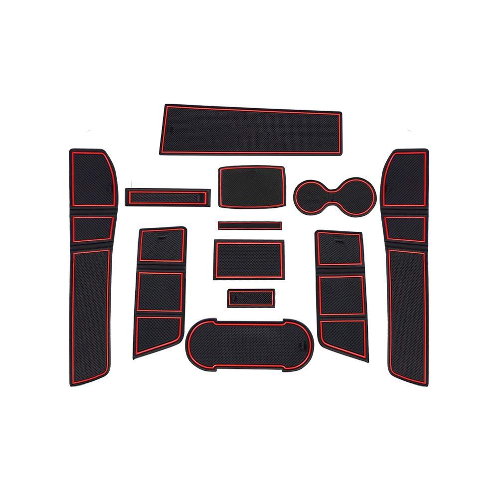 CDEFG para Seat Leon Cupra 5F Coche Accesorios Antideslizante Copa Mats Anti Slip Puerta Ranura de Acceso Kit de la Estera del coj/ín de la Ranura decoraci/ón de Interiores