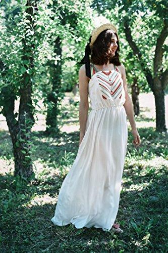 For Dress Lungo Vyshyvanka Vyshyvanka Ukrainian Embroidered Fiocco Ucraino Ricamato Bianco Donne Dress Staple 2kolyory Embroidered Le Per Abito 2kolyory Abito White Ricamata Long Women x4XfxqE7