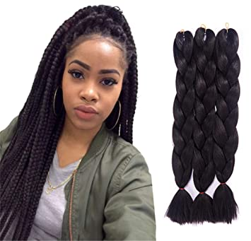 Jumbo Braids Hair Products 24 Inch Three Tones Synthetic Kanekalon Braiding Hair Jumbo Twist Crochet Braiding Hairstyle Wtb