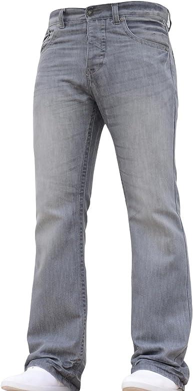 BNWT NEW MENS BOOTCUT FLARED WIDE LEG DARK BLUE DENIM JEANS ALL WAIST /& SIZES