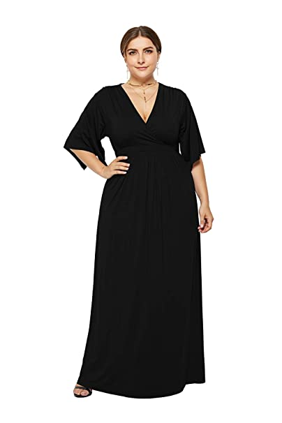Womens White/Black Beach Cover up Maxi Length Plus Size Dress Deep V-Neck  Tank Dresses