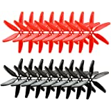 SoloGood 5040 6-blades 5x4x6 Propellers 16 Pieces(8 CW, 8 CCW) Black & Red Genuine & 5-inch Quadcopter and Multirotor Props