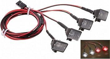 ARUNDEL SERVICES EU Coche RC Luz LED con Pantalla para 1/10 RC Rock Crawler HSP REDCAT Axial SCX10 Traxxas TRX-4 Camión RC Partes de vehículo Luces de ...