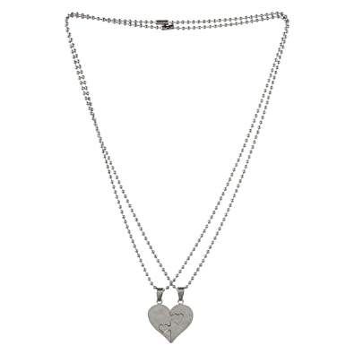 Buy amour broken heart silver love pendant online at low prices in amour broken heart silver love pendant aloadofball