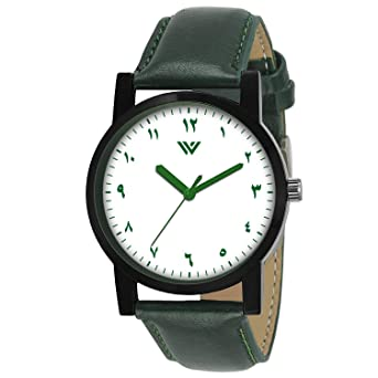 9f9055ccf3fa Buy MVS Arabic Numeral Analogue Round White Boy s   Men s Wrist Watch Online  at Low Prices in India - Amazon.in