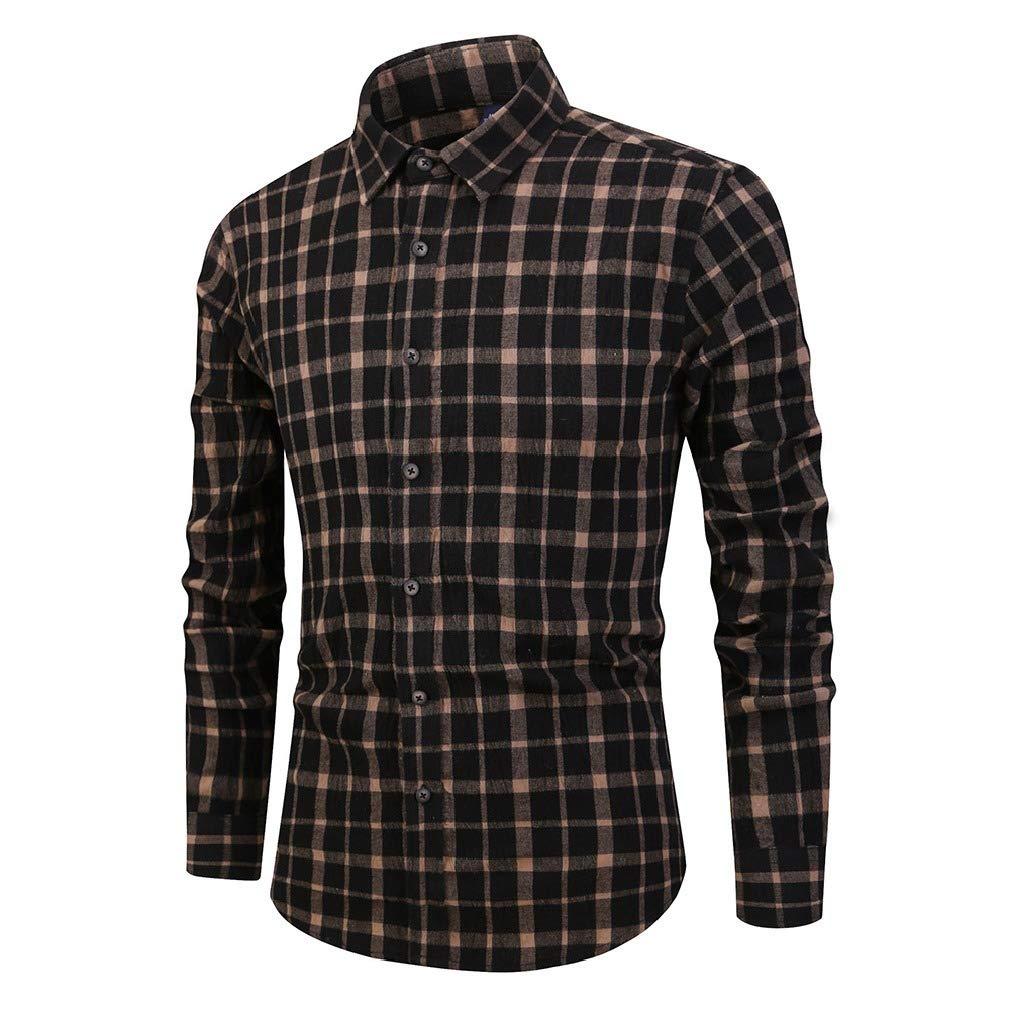 Fseason-Men Long-Sleeve Vintage Wash Button Premium Classic-Fit Longshirt