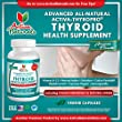 Activa Naturals Thyroid Support Health Supplement - 90 Vegetarian Capsules - Natural & Herbal Iodine from Kelp, Ashwagandha, Bladderwrack, Coleus Forskohlii & More Herbs