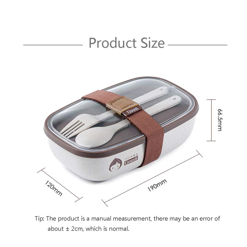 YJJY Bento Box Fiambreras Lunchbox, Eco-Friendly Biodegradable ...