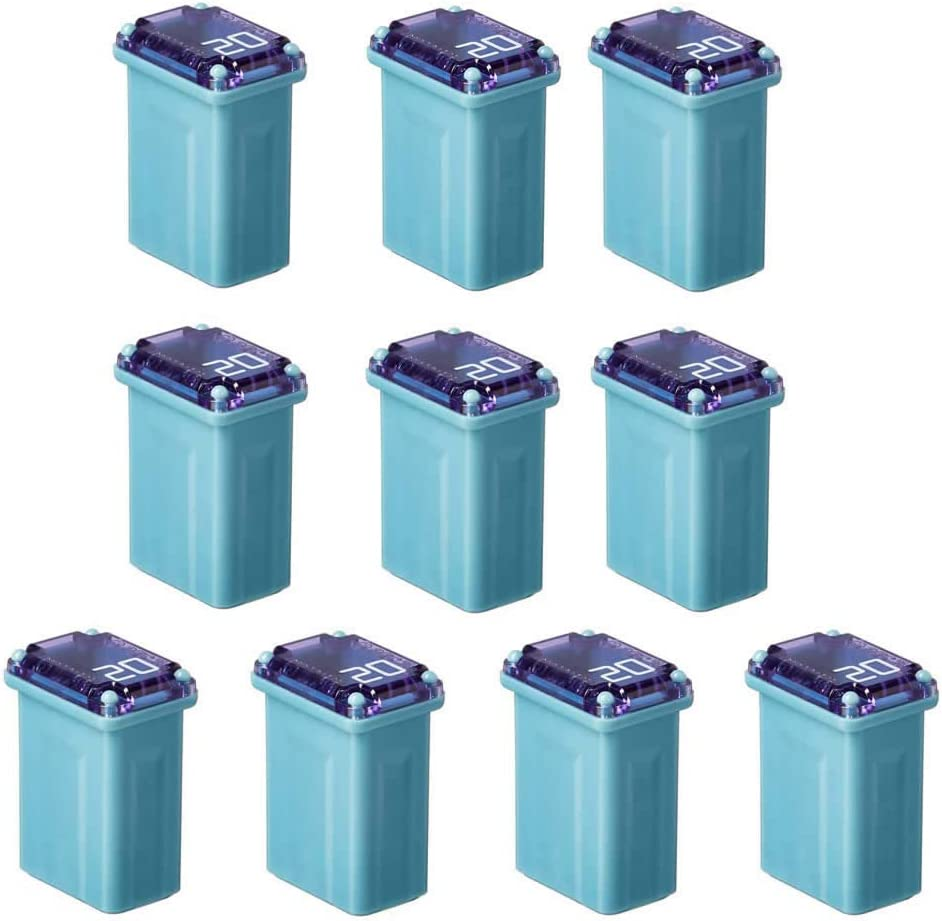 10 Pack FMM-20 MAXI Fuse ('Slow Blow' Micro Female - 20 A (Blue))