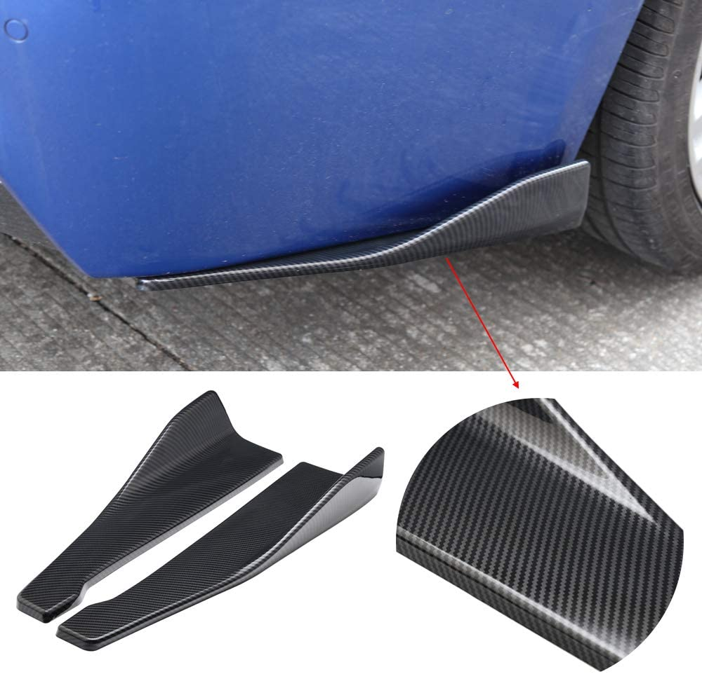 Aishun Dtouch Rear Bumper Lip Lower Corner Valance Covers Splitter Spoilers (6048#Carbon)