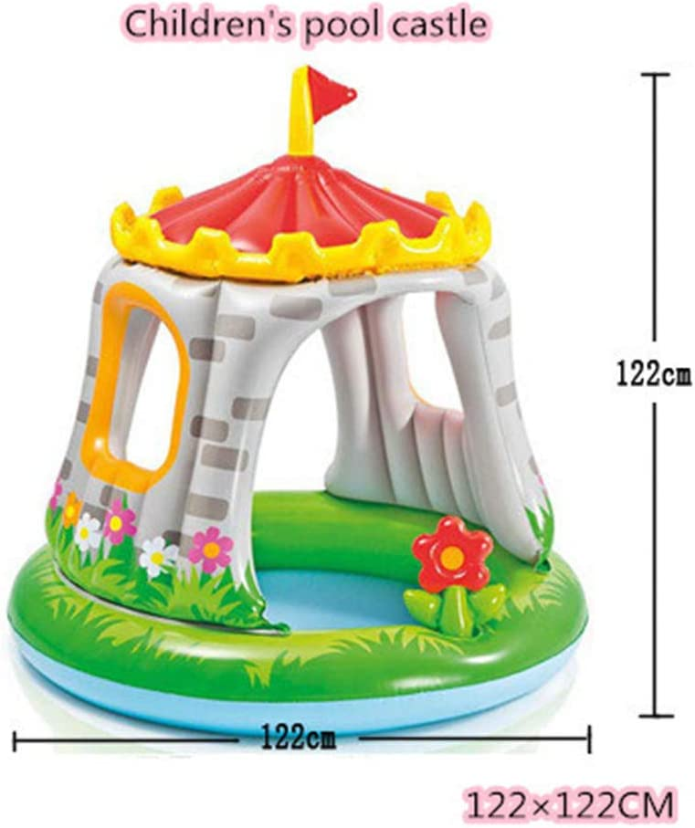 SUWIN Colorida Piscina de sombrillas Castle Baby, Piscina Inflable ...