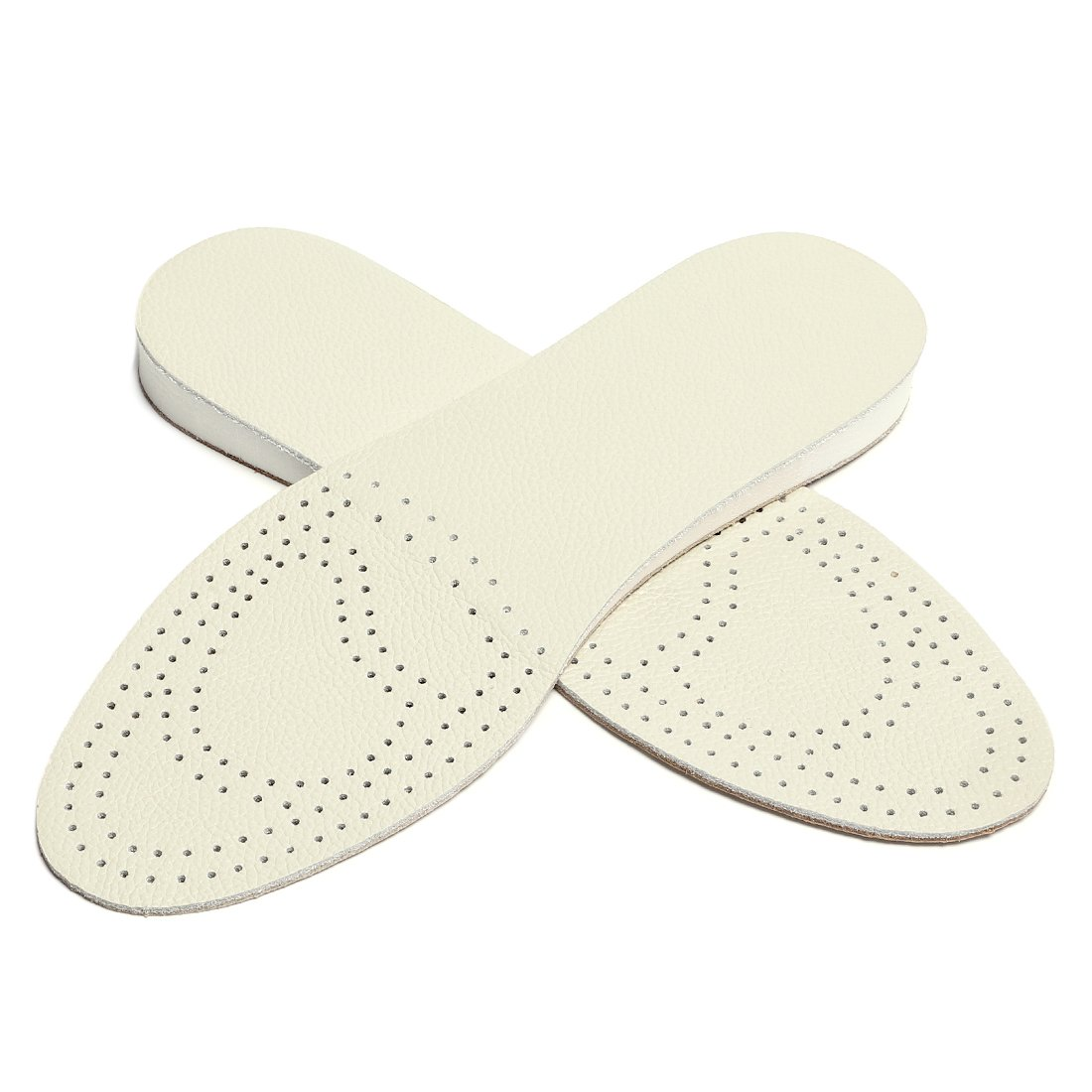 uxcell® Leather Insoles for Women Men Soft Breathable Pad Height Increase Insole Shock Absorber g18043000ux0029