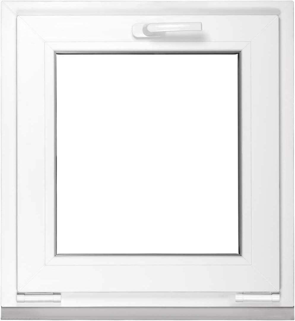 BxH 58x38 cm 2 fach Verglasung BxH 58x38 cm Kipp Kippfenster Kellerfenster Fenster Premium Wei/ß