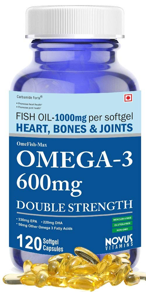 Carbamide Forte Omega 3 Fish Oil 1000mg Double Strength (330mg EPA & 220mg DHA) - 120 Softgels product image
