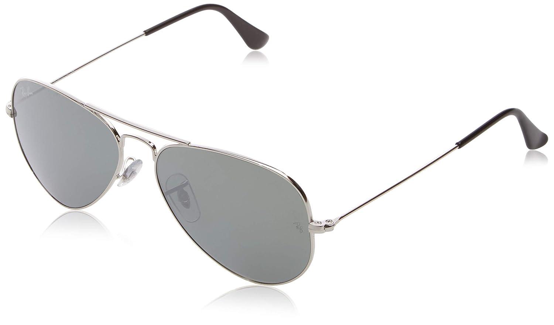 2cc9ca1e2a Ray-Ban Aviator Sunglasses (Silver) (RB-3025-W3275)  Amazon.in  Clothing    Accessories