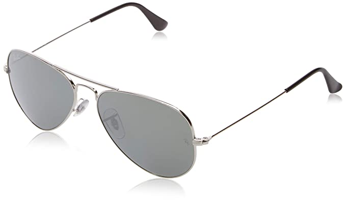 f4f99ee2cb2ab Image Unavailable. Image not available for. Colour  Ray-Ban Aviator  Sunglasses (Silver) (RB-3025-W3275)
