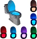 Motion Sensor LED Toilet Night Light, Komire Light Detection Motion Activated