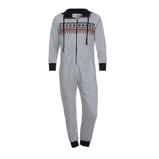pijama hombre mono, Sannysis mono de trabajo para hombre camisetas manga larga invierno dobla camisetas termicas originales Pantalones largos con cremallera ...