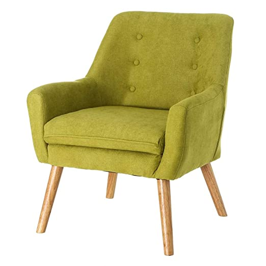Sillón tapizado en Microfibra Verde Moderno para salón ...