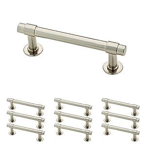 Franklin Brass P29520K-SN-B Satin Nickel 3-Inch Francisco Kitchen or Furniture Cabinet Hardware Drawer Handle Pull, 10 pack