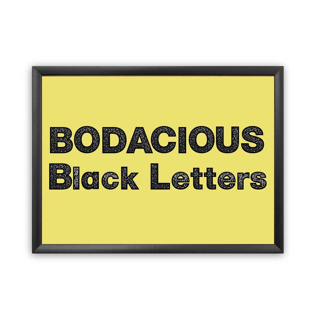 Hygloss Products Bulletin Board Letters and Numbers – Punch Out Bodacious Black Design Combo – 3 Inch, 350 Pieces