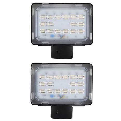 2 X Viugreum LED Focos Reflector Proyector de Iluminación al Aire Libre Reflector con Sensor de