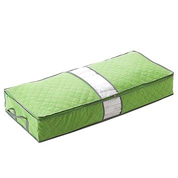 Decken Youkara 100/L Faltbar Unterbett Aufbewahrungstasche mit Transparentem Fenster Stoff Organizer f/ür Bettw/äsche Kissen Bettdecken Pullover