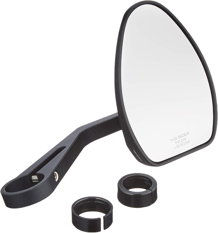 Highsider 301782 Motorradspiegel Lenkerendenspiegel Für 22 25 4mm Ferrara 2 Alu Schwarz Auto