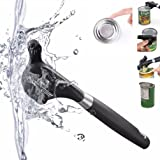 Safe Cut Can Opener-Smooth Edge Can Opener -Safety Feature Prevents Sharp Edges and Cuts Ergonomic Soft Grips Handle Food Grade Stainless Steel