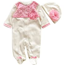 Dragon868 Ropa Recien Nacido Niña, Conjuntos de Ropa, Cómodo recién Nacido bebé Cap Hat + Mameluco Playsuit Pijama niña Bebe