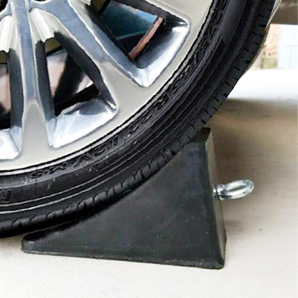 CWCRD Industrial Rubber Stoppers Wheel//Bearings Roadside Garages for Parking Safety Vehicle Floor Stoppers