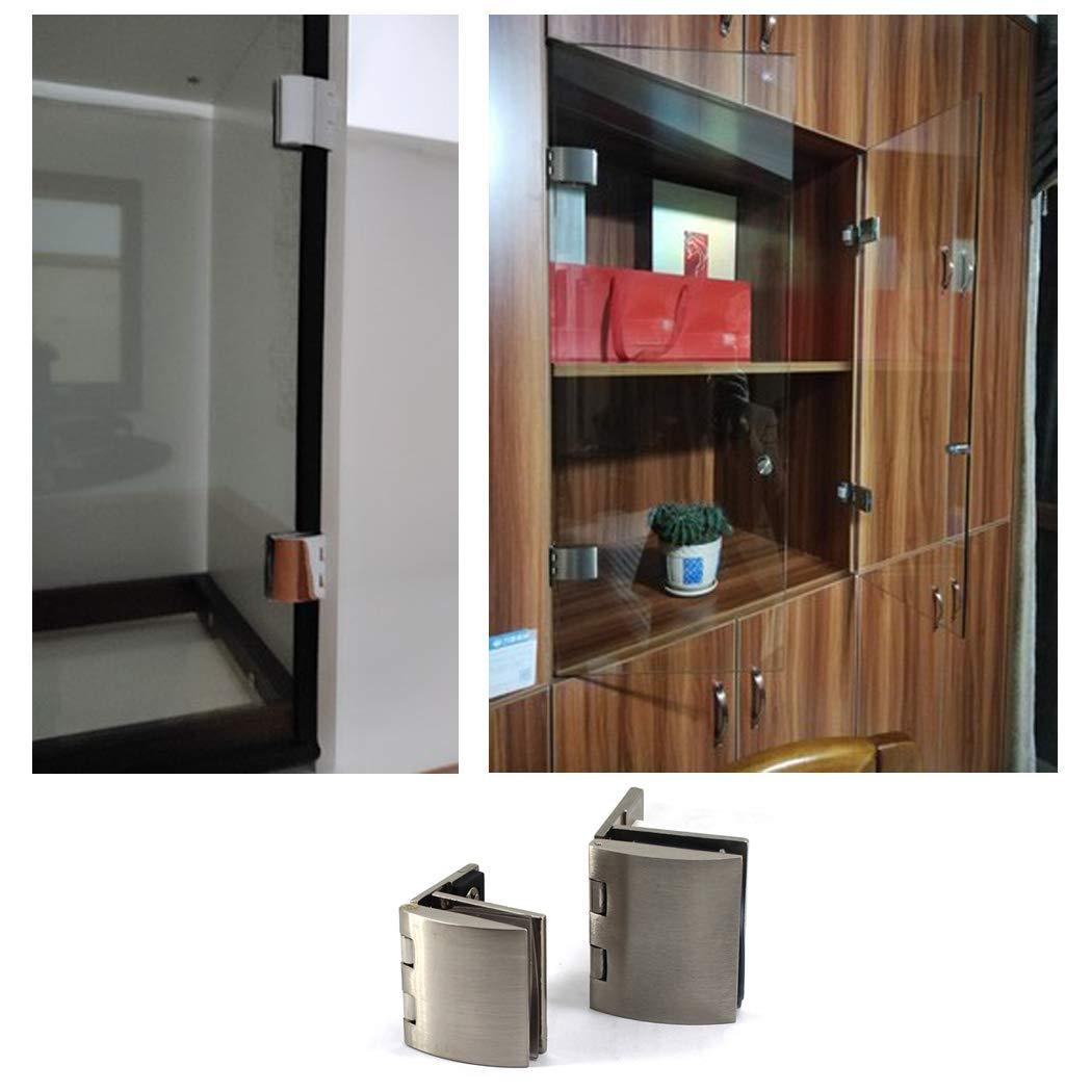 Zinklegierung Glas-T/ürklammer Glast/ürscharnier-Set Duschscharnier mehrfarbig