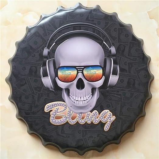Música Cubierta de Cerveza Grande Cartel de Chapa Logo Placa ...
