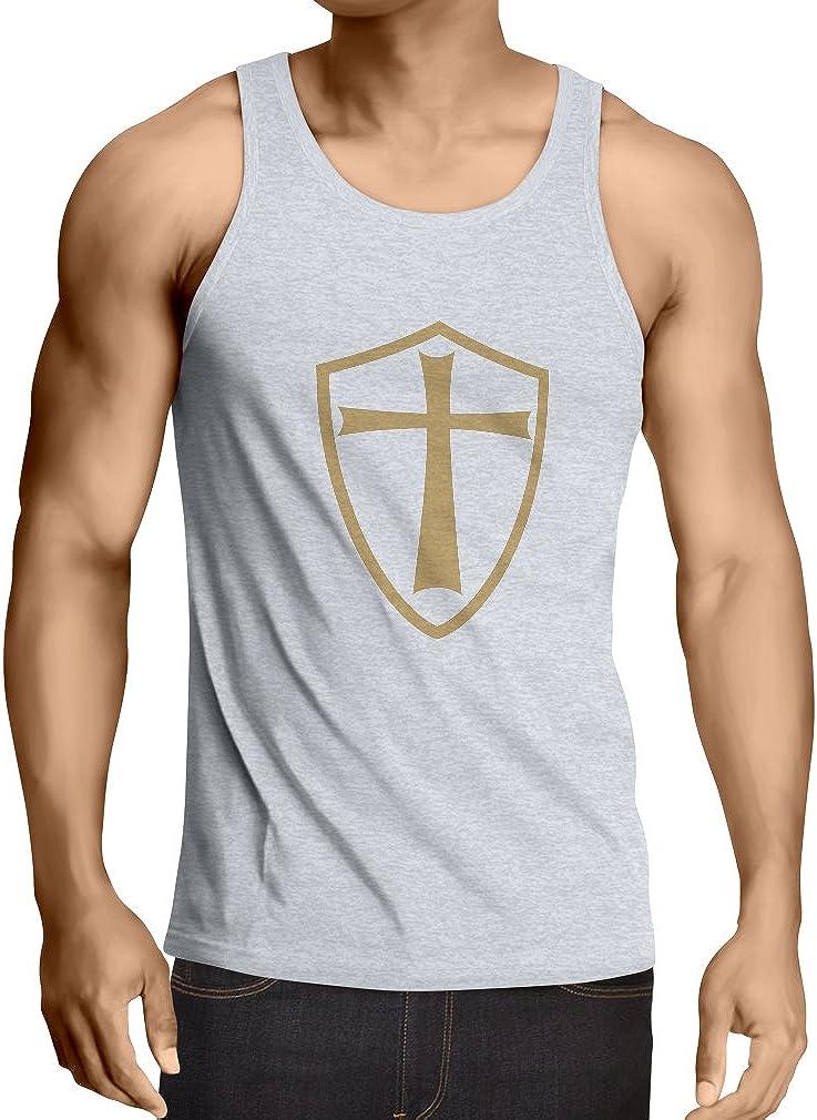 lepni.me Camisetas de Tirantes para Hombre Caballeros Templarios - Escudo de los Templarios