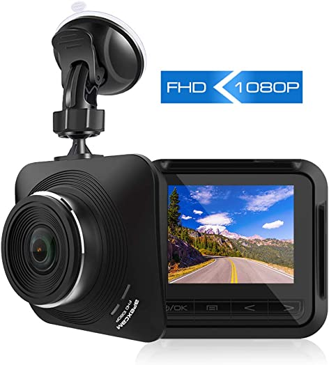 Apexcam Dash Cam 1080P Full HD Driving Recorder Mini Car Camera DVR Dashboard Camera 170 Wide Angle Super Night Vision G-Sensor,Motion Detection,Loop Recording,Parking Monitor